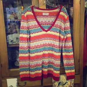 Sweaters - Sweater, multicolored horizontal stripes.